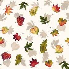 Pumpkin Harvest Bolted Fabric- Light Leaves