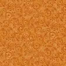 Pumpkin Harvest Bolted Fabric- Swirl, Orange