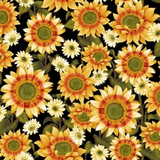 Pumpkin Harvest Bolted Fabric- Sunflower