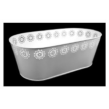 Punched Tin Tub-White