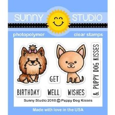Sunny Studio Puppy Dog Kisses Clear Stamps