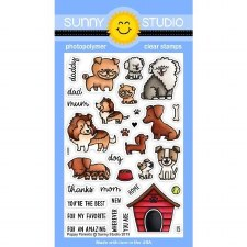 Sunny Studio Puppy Parents Clear Stamps