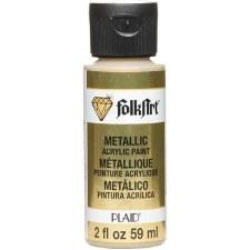 FolkArt 2 Oz. Metallic Acrylic Paint- Pure Gold