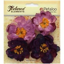 Botanica Ruffled Peony Embellishments- Purple