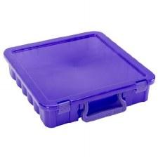 "12"" Stackable Storage Tote- Purple"