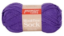 Wool Free Sock Yarn- Purple