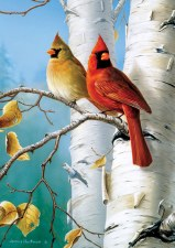 Cardinals & Birch - 300 Piece Puzzle