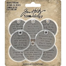 Tim Holtz Metal Embellishments- Quote Tokens