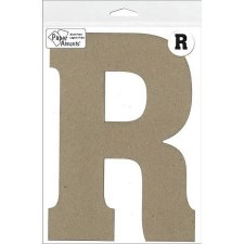 "8"" Chipboard Letter- R"