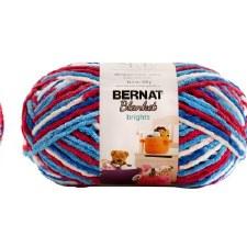 Bernat Blanket Yarn- Variegated- Red, White, & Boom