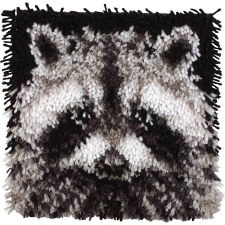 Latch Hook 12x12 Kit- Raccoon