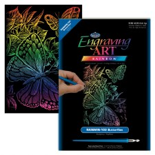 Engraving Art Foil Set- Rainbow Butterfliles