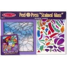 Melissa & Doug Peel & Press Stained Glass- Rainbow Garden