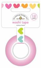Cute & Crafty Washi Tape- Rainbow Hearts