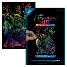 Engraving Art Foil Set- Rainbow Tropical Fish
