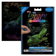 Engraving Art Foil Set- Rainbow Undersea Turtle