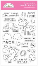 Doodle Stamps & Dies- Rainbows & Unicorns Stamps