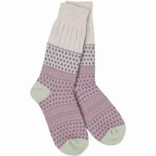 Weekend Textured Crew Socks- Rainy Day