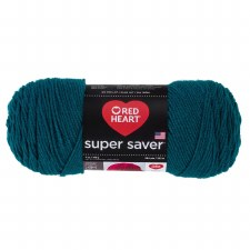 Red Heart Super Saver Yarn- Real Teal