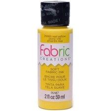 Fabric Creations 2oz Fabric Paint- Real Yellow