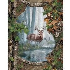 Nature & Wildlife Fabric Panel- Realtree Buck