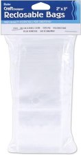 "Reclosable Plastic Bags, 2""x3""- 100ct"