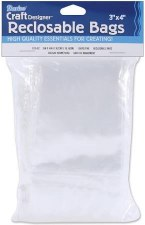 "Reclosable Plastic Bags, 3""x4""- 100ct"