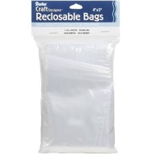 "Reclosable Plastic Bags, 4""x5""- 100ct"