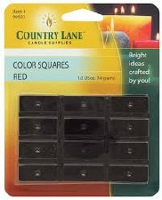 Candle Dye Color Squares -1/2oz Red