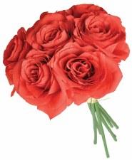 Ashley Rose Wedding Bouquet- Red