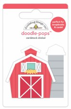 Down On The Farm Doodle-Pops Stickers- Red Barn