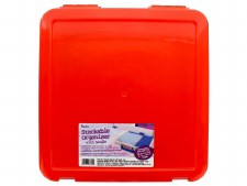 """12"""" Stackable Storage Tote- Red"""