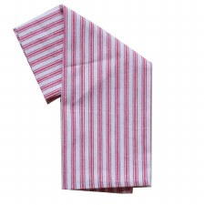 "Ticking Stripe 20""x28"" Tea Towel- Red"