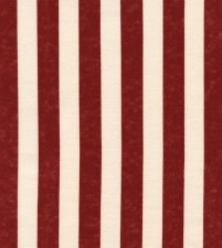 USA Bolted Fabric- Red Awning Stripe