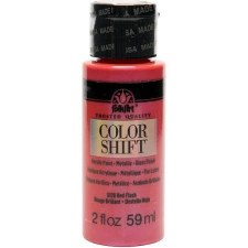 FolkArt Color Shift Metallic Acrylic Paint, 2oz- Red Flash