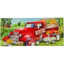 Sassafrass Switch Mat Insert- Red Flower Truck