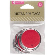 Hampton Art Metal Rim Tags- Red