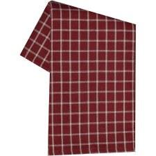 "Window Pane 20""x28"" Tea Towel- Red"