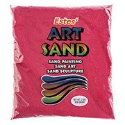 Estes' Art Sand, 2lb Bag- Red