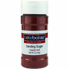 Sanding Sugar, 4oz- Red