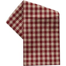 "Small Check 20""x28"" Tea Towel- Red"