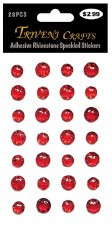 Adheisve Rhinestones- Speckled, Red