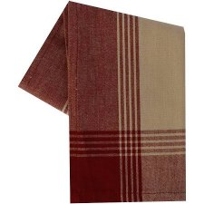 "McLeod Stripe 20""x28"" Tea Towel- Teadye & Red"