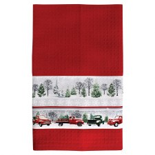 Red Truck Towel Kit - Red