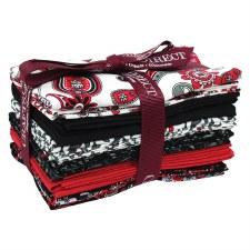 Fat Quarter Bundle- Red, White, & Black