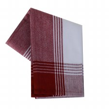 "McLeod Stripe 20""x28"" Tea Towel- White & Red"