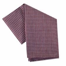 """Mini Check 20""""x28"""" Tea Towel- White & Red"""