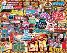 Retro Diner- 1000 piece puzzle