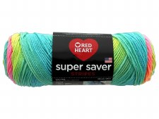 Red Heart Super Saver Yarn, Stripes- Retro
