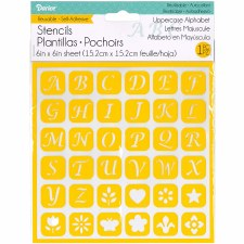 Reusable Adhesive 6x6 Stencil- Uppercase